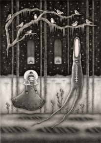 """""""Winter Forest"""" (pencil)"""
