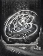 """Swirl"" (graphite)"