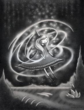 """""""Swirl"""" (graphite, 9 x 12 in, 2018)"""