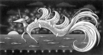 """Diamond Serpent"" (graphite) $200"
