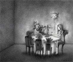 """Interior Scene I"" (graphite) $175"